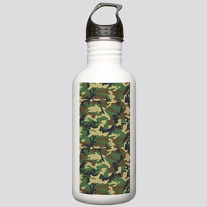 Woodland Camouflage Stainless Water Bottle 1.0L