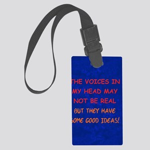 voicesinhead_journal Large Luggage Tag