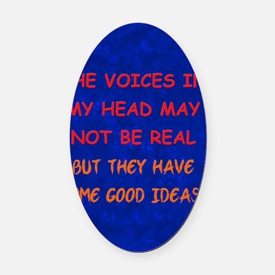 voicesinhead_journal Oval Car Magnet