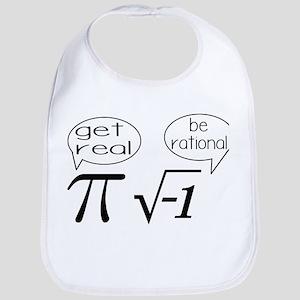 Get Real, Be Rational Math Humor Bib