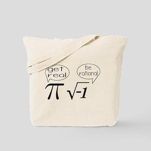 Get Real, Be Rational Math Humor Tote Bag