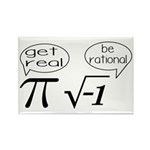 Get Real, Be Rational Math Humor Rectangle Magnet