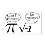 Get Real, Be Rational Math Humor Rectangle Car Mag