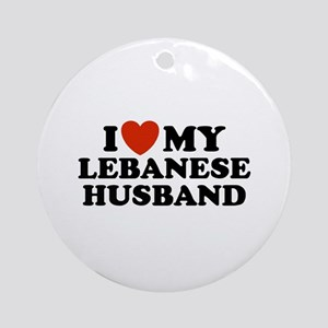 I Love My Lebanese Husband Ornament (Round)