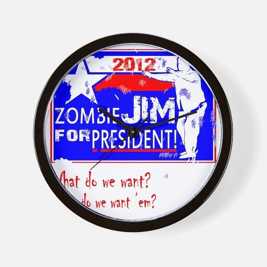 Zombie-Jim-4-President Wall Clock