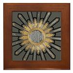 Art Deco Sunburst Framed Tile