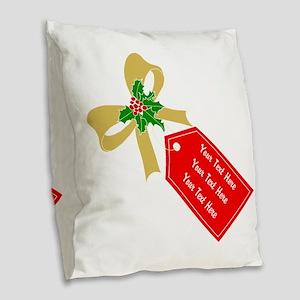 Personalize It Burlap Throw Pillow