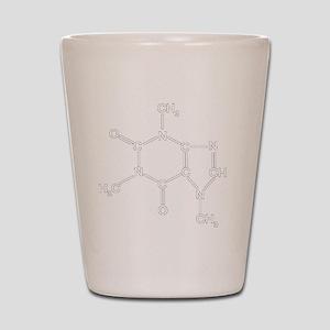 Caffeine Chemistry funny t-shirt design Shot Glass