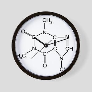 Caffeine Chemistry funny t-shirt design Wall Clock