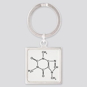 Caffeine Chemistry funny t-shirt d Square Keychain