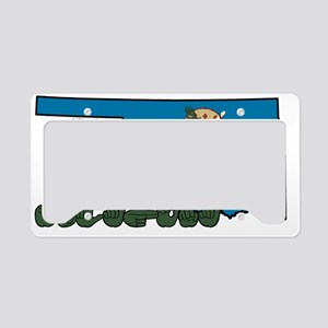 OKstateFlagILY License Plate Holder
