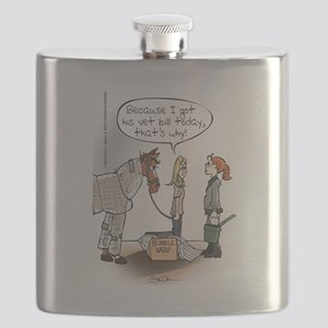 Horse Health Bubble Wrap Flask