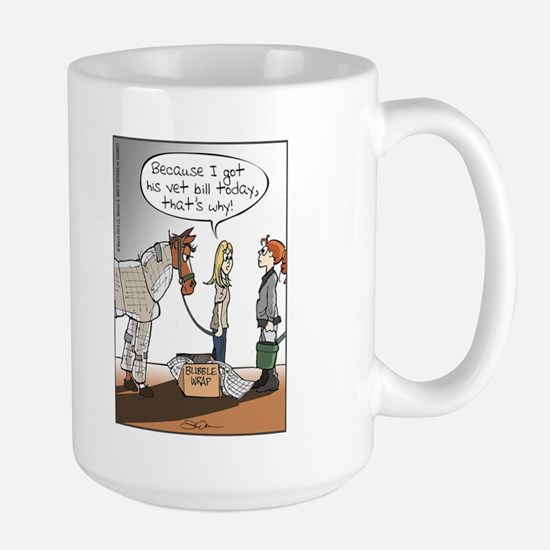 Horse Health Bubble Wrap Large Mug