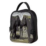Elephant Eyes Woodcut Neoprene Lunch Bag