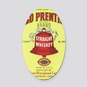 old-prentice-quart-small Oval Car Magnet