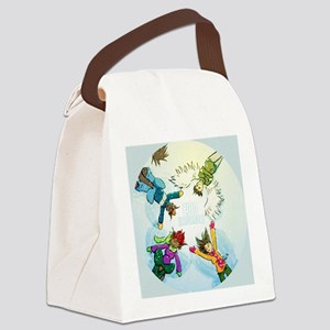 Snow Angels Ornament Canvas Lunch Bag