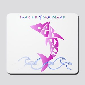 Cortney pink dolphin Mousepad