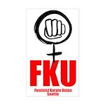 FKU Rectangle Sticker