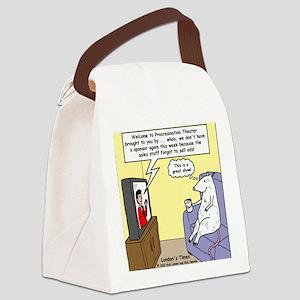 Procrastination Theater Canvas Lunch Bag