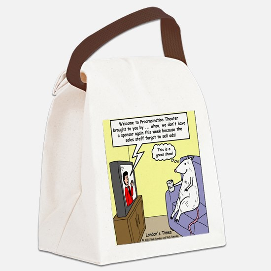 Procrastination Theater Canvas Lunch Bag