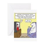 Procrastination Theater Greeting Card