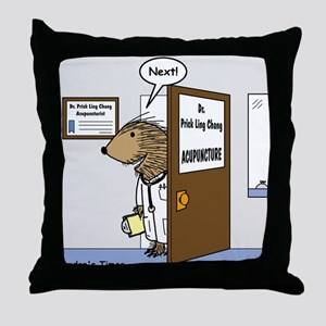 Porcupine Acupuncture Throw Pillow