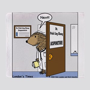 Porcupine Acupuncture Throw Blanket