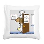 Porcupine Acupuncture Square Canvas Pillow