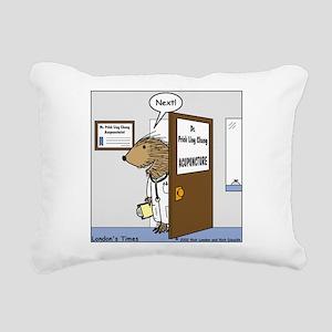 Porcupine Acupuncture Rectangular Canvas Pillow