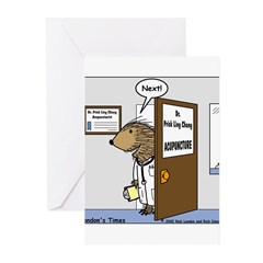 Porcupine Acupuncture Greeting Cards (Pk of 10)