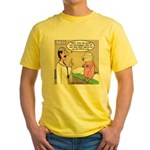 Pig Plastic Surgery Yellow T-Shirt