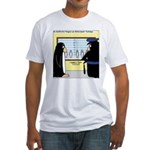 Penguin Police Lineup Fitted T-Shirt