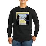 Penguin Police Lineup Long Sleeve Dark T-Shirt