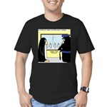 Penguin Police Lineup Men's Fitted T-Shirt (dark)