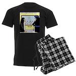 Penguin Police Lineup Men's Dark Pajamas