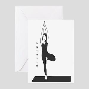 Stylized Yogini Greeting Card