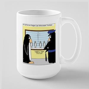 Penguin Police Lineup Large Mug
