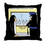 Penguin Police Lineup Throw Pillow