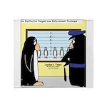 Penguin Police Lineup Throw Blanket
