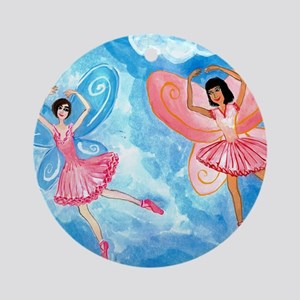 pink fairies Round Ornament