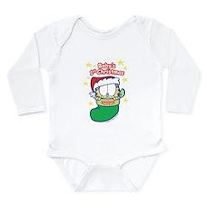 Garfield Baby 1st Christmas Long Sleeve Infant Bod