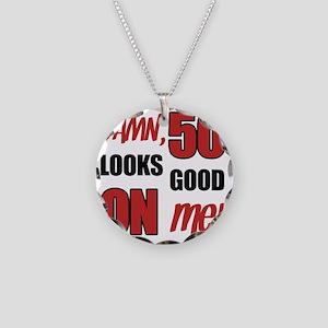 Funny 50th Birthday (Damn) Necklace Circle Charm