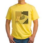 Pavlovs Dog Begging Yellow T-Shirt