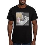 Pavlovs Dog Begging Men's Fitted T-Shirt (dark)