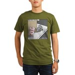 Pavlovs Dog Begging Organic Men's T-Shirt (dark)