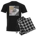 Pavlovs Dog Begging Men's Dark Pajamas