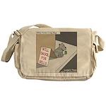 Pavlovs Dog Begging Messenger Bag