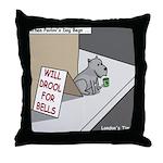 Pavlovs Dog Begging Throw Pillow