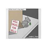 Pavlovs Dog Begging Throw Blanket