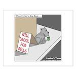 Pavlovs Dog Begging Small Poster